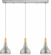 EGLO 202314A Sabinar Contemporary Brushed Nickel Multi Pendant Lighting