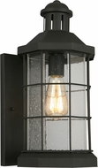 EGLO 202784A San Mateo Creek Matte Black Outdoor 8  Sconce Lighting