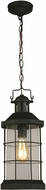 EGLO 202798A San Mateo Creek Matte Black Outdoor Pendant Lamp