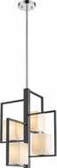 EGLO 202818A Regis Falls Modern Black & Chrome Pendant Lighting Fixture