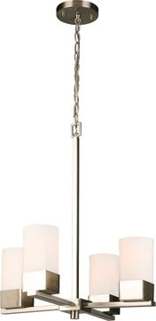 EGLO 202855A Ciara Springs Contemporary Brushed Nickel Mini Chandelier Light