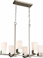 EGLO 202857A Ciara Springs Contemporary Brushed Nickel Island Lighting