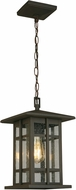 EGLO 202891A Arlington Creek Matte Bronze Exterior Ceiling Light Pendant