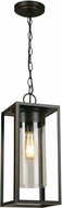EGLO 202898A Walker Hill Contemporary Oil Rubbed Bronze Outdoor Ceiling Pendant Light