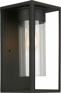 EGLO 203033A Walker Hill Matte Black Exterior 7.5  Sconce Lighting