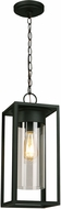 EGLO 203036A Walker Hill Matte Black Outdoor Lighting Pendant