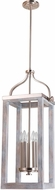 EGLO 203105A Montrose Contemporary Acia Wood / Brushed Nickel Foyer Lighting