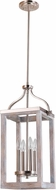 EGLO 203106A Montrose Modern Acia Wood / Brushed Nickel Foyer Light Fixture