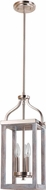 EGLO 203107A Montrose Contemporary Acia Wood / Brushed Nickel Foyer Lighting Fixture