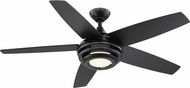 EGLO 203235A Petani Contemporary Matte Black LED 52  Ceiling Fan