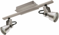 EGLO 203246A Trillo Contemporary Brushed Nickel LED 2-Light Track Light