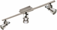EGLO 203247A Trillo Modern Brushed Nickel LED 3-Light Track Lighting Fixture