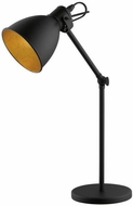 EGLO 203447A Priddy Contemporary Black and Gold Reading Light