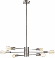 EGLO 203475A Sonora Modern Polished Nickel Chandelier Light