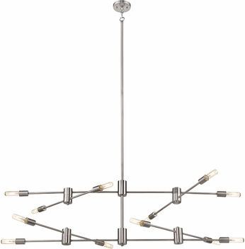 EGLO 203488A Sonora Modern Polished Nickel Kitchen Island Light