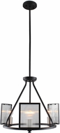 EGLO 203724A Henessy Contemporary Black & Brushed Nickel Mini Lighting Chandelier
