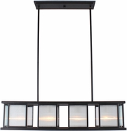 EGLO 203726A Henessy Contemporary Black & Brushed Nickel Island Lighting