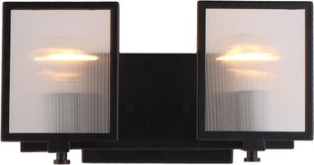 EGLO 203728A Henessy Contemporary Black & Brushed Nickel 2-Light Lighting For Bathroom