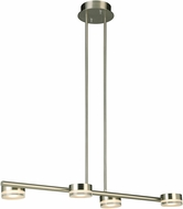 EGLO 203968A Transton Contemporary Brushed Nickel LED Chandelier Light