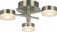 EGLO 203971A Transton Contemporary Brushed Nickel LED Flush Mount Lighting