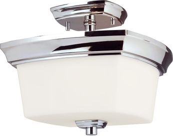 EGLO 203983A Vlacker Chrome Flush Mount Light Fixture