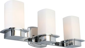 EGLO 203987A Vlacker Chrome 3-Light Bathroom Lighting Fixture