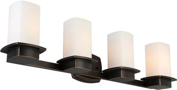 EGLO 203988A Vlacker Oil Rubbed Bronze 4-Light Vanity Lighting