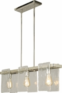 EGLO 203996A Wolter Modern Polished Nickel Island Light Fixture