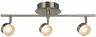 EGLO 203998A Newport Hill Contemporary Brushed Nickel LED Track Light