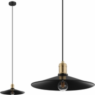 EGLO 204025A Bridport Modern Black & Brushed Gold Accent Pendant Lamp