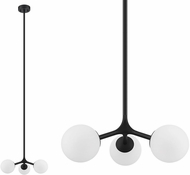 EGLO 204029A Maragall Contemporary Matte Black Hanging Lamp