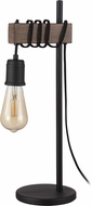 EGLO 204244A Violon Modern Black / Dark Brown Table Lamp Lighting