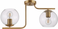 EGLO 204336A Marojales Contemporary Brushed Gold Ceiling Light Fixture