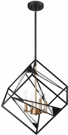 EGLO 204586A Corrietes Modern Matte Black 23  Hanging Pendant Light