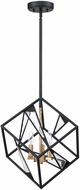 EGLO 204587A Corrietes Contemporary Matte Black 17.5  Pendant Hanging Light