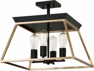 EGLO 204597A Paulino Modern Brushed Gold and Matte Black Ceiling Lighting Fixture