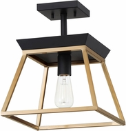 EGLO 204598A Paulino Modern Brushed Gold and Matte Black Flush Lighting