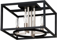 EGLO 204605A Mundazo Contemporary Black and Brushed Nickel 13  Overhead Light Fixture