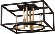 EGLO 204606A Mundazo Contemporary Black and Brushed Gold 16  Ceiling Lighting