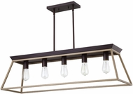 EGLO 204609A Paulino Contemporary Dark Brown and Bleached Wood Kitchen Island Lighting