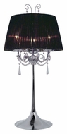 EGLO 21956A Diadema Traditional Chrome Finish 29 Inch Tall Table Lighting