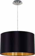 EGLO 31599A Maserlo Modern Satin Nickel Drum Hanging Lamp