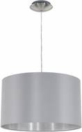 EGLO 31601A Maserlo Contemporary Satin Nickel Drum Hanging Light