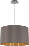 EGLO 31603A Maserlo Modern Satin Nickel Drum Pendant Light Fixture