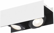 EGLO 39316A Vidago Modern Black / White LED 2-Light Track Light