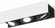 EGLO 39317A Vidago Contemporary Black / White LED 3-Light Track Lighting Fixture