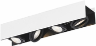 EGLO 39318A Vidago Modern Black / White LED 4-Light Home Track Lighting
