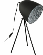 EGLO 39498A Mareperla Modern Black Table Top Lamp