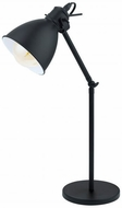 EGLO 49469A Priddy Modern Black and White Reading Lamp