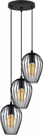 EGLO 49479A Newtown Modern Matte Black Multi Drop Lighting